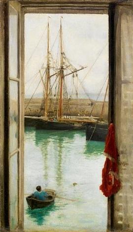 Harbour Dielette, Normandy by Henry Scott Tuke on artnet