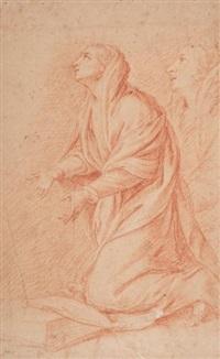 femme agenouillée avec reprise du visage à droite by pierre mignard