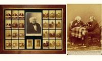 l'entretien de m. nadar avec m. chevreul, le jour de son centenaire, 31 août 1886 (26 works + 1 gelatin silver print) by paul nadar