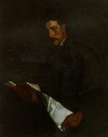 portrait of a scholar by philip leslie hale