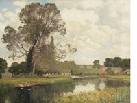 the lambourne valley by sir alfred east