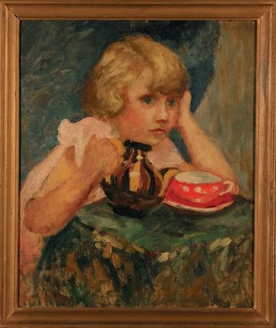 dziewczynka z filiżanką by anna brzozowskamaslankiewicz