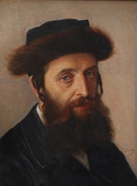 portrait of a hasid by lazar krestin