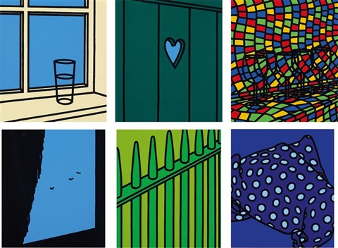 some poems of jules laforgue set of 6 by patrick caulfield