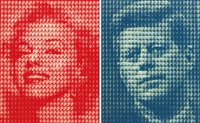 a.marilyn vs. kennedy, b.kennedy vs. marilyn by kim dong yoo