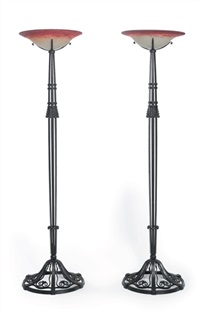 floor lamps (pair) by marcel bergue and muller freres