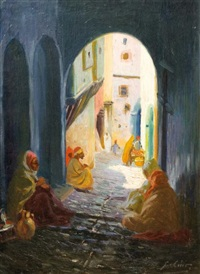 ruelle à alger by gustave lino