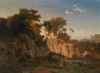 abendlandschaft by johann (jan) kautsky