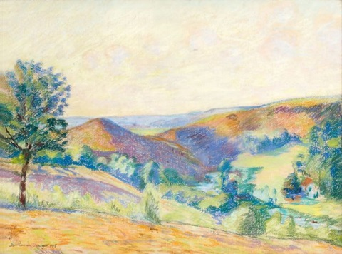 paysage de crozant by armand guillaumin