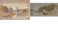 views of rotterdam (2 works) by samuel colman