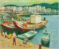 八斗子渔港 by li shiqiao
