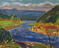 norrländskt landskap med vattendrag by erling ärlingsson