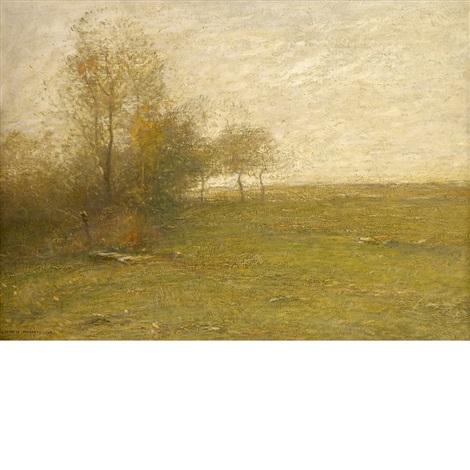 paysage au feu de broussailles by john francis murphy