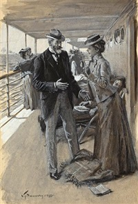 couple aboard ship (+ 3 others; 4 works) by william thomas smedley