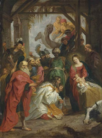 the adoration of the magi by willem van herp the elder