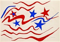 flying colors, spirit of '76 (stars and stripes -i) by alexander calder