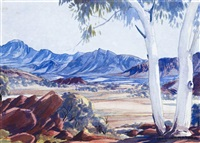 west macdonnell ranges by albert namatjira