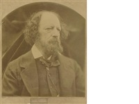 portrait photograph of alfred, lord tennyson by julia margaret cameron