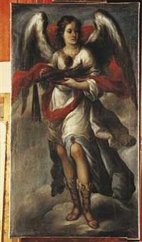 un ange portant les instruments de la passion by miguel cabrera