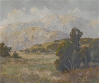 landscape with distant mountains, believed to be escondido hills by maurice braun