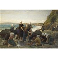 the washerwomen of the breton coast by jules breton