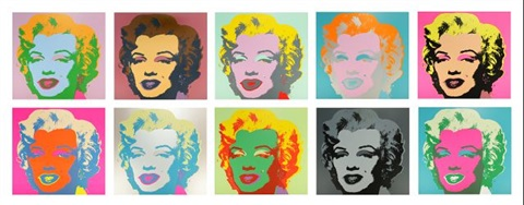 marilyn suite of 10 by andy warhol
