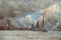 vue de port by albert baertsoen