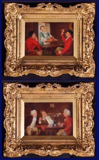 tavern interior (+ tavern interior; pair) by john arthur lomax