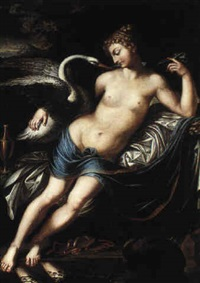 leda and the swan by josef abel