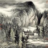 烟雨初牧图 by zeng xianguo