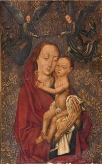 vierge à l'enfant couronnée par des anges by dieric bouts the elder