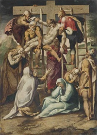 the descent from the cross by girolamo muziano