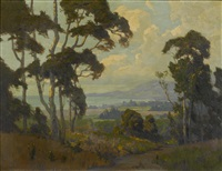 a view along the santa barbara coast by elmer wachtel