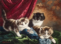 three kittens by cornelis raaphorst