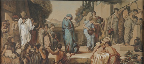 captive andromache by lord frederick leighton
