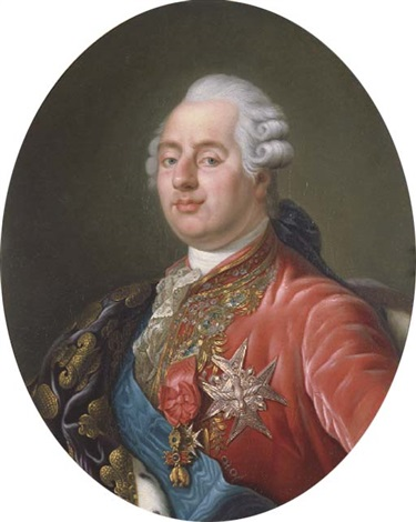 king louis xvi of france wearing the order of the golden fleece the order of saint esprit and the order of saint louis with an embroidered drape over his right shoulder by joseph boze