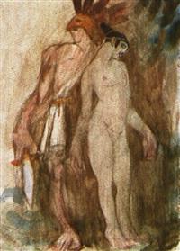 guerrero y mujer by ismael smith