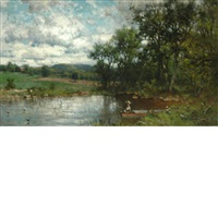an afternoon on the pond by george herbert mccord