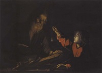 christ in the carpenter's shop by trophîme (theophisme) bigot the elder