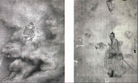 figures from the nine songs by zhou xun