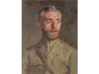 portrait of a first world war officer by gerald goddard jackson