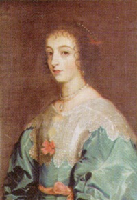 portrait of henrietta maria by nathan drake