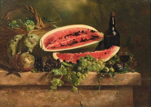 nature morte à la pastèque by claire julienne noble pijeaud