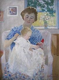 mère et enfant by nikolai baskakov