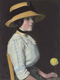 the straw hat by william strang
