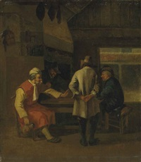 men drinking in an interior by job adriaensz berckheyde