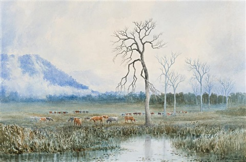 pastoral ideal tasmania by william charles piguenit