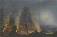 corroboree, lake macquarie by henry curzon allport