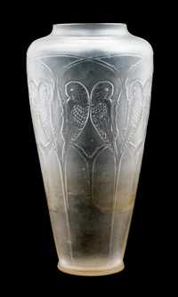 a rene lalique molded and frosted glass inseparables vase by rené lalique