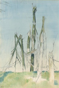 trees at the somme by eric henri kennington